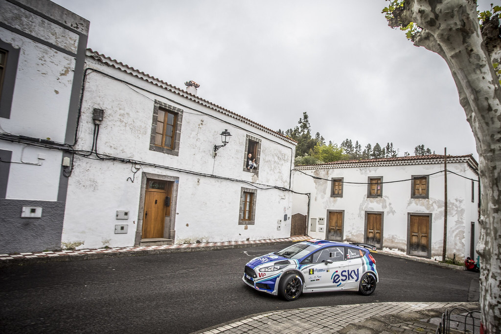 04 HABAJ Lukasz (pol), DYMURSKI Daniel (pol) , RALLY TECHNOLOGY, FORD FIESTA R5, action during the 2018 European Rally Championship ERC Rally Islas Canarias, El Corte Inglés,  from May 3 to 5, at Las Palmas, Spain - Photo Gregory Lenormand / DPPI