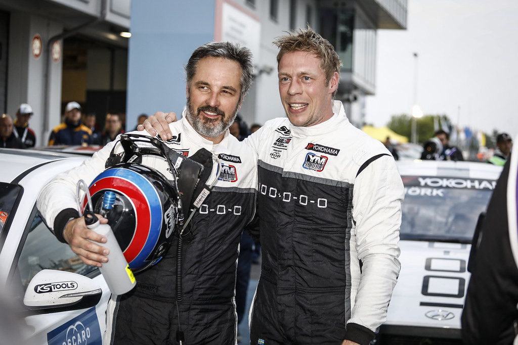 MULLER Yvan (FRA), YMR, Hyundai i30 N TCR, portrait BJORK Thed (SWE), YMR, Hyundai i30 N TCR, portrait during the 2018 FIA WTCR World Touring Car cup of Nurburgring, Nordschleife, Germany from May 10 to 12 - Photo Francois Flamand / DPPI