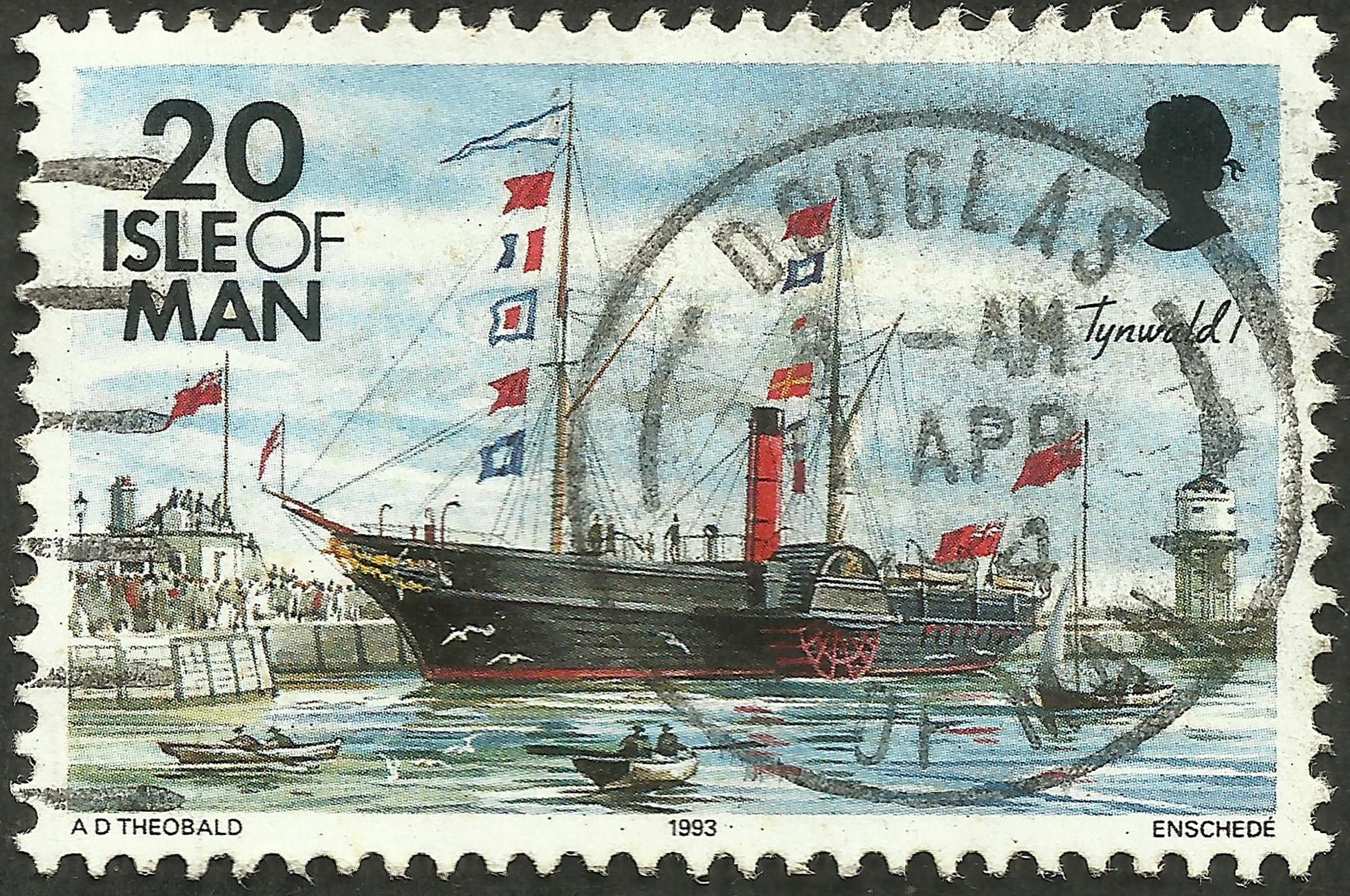 Isle of Man - Scott #543 (1993)