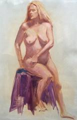 Painting of figure model Shannon Kringen