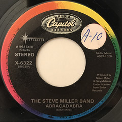 STEVE MILLER BAND:FLY LIKE AN EAGLE(LABEL SIDE-B)