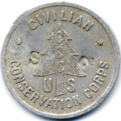 5 Cents CCC Token Greenbriar, AR obverse