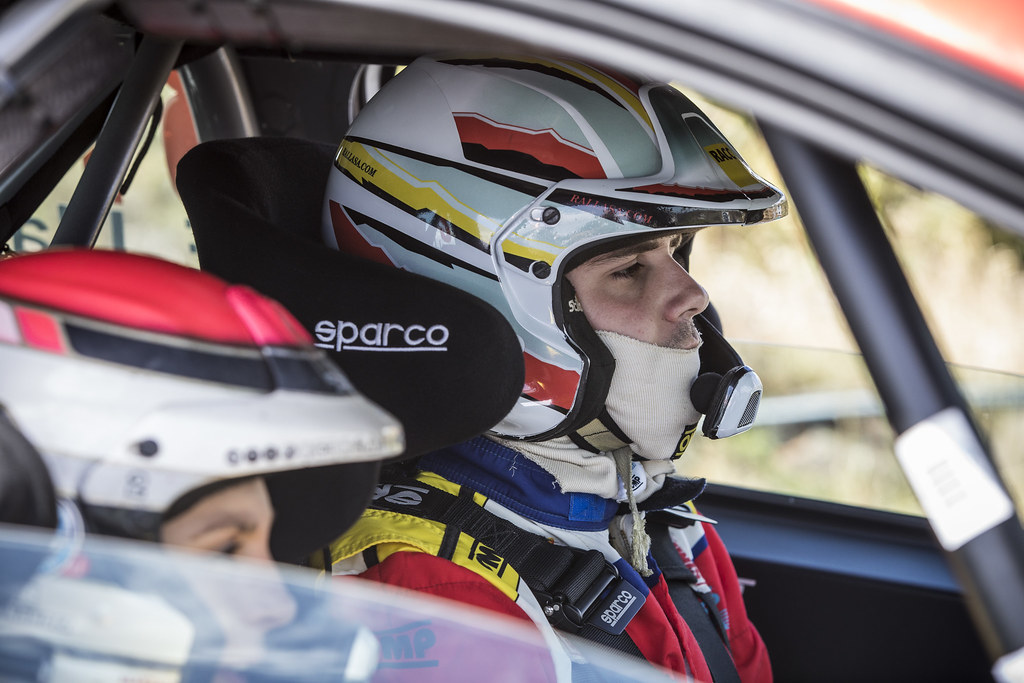 LLARENA Efren, FERNANDEZ Sara, Team rallye spain, Peugeot 208 R2, portrait during the 2018 European Rally Championship ERC Rally Islas Canarias, El Corte Inglés,  from May 3 to 5, at Las Palmas, Spain - Photo Gregory Lenormand / DPPI