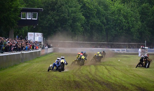 Grasstrack motorcycle race in Lüdinghausen