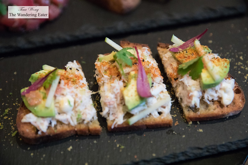 Crab Toast, Citrus, Grapefruit, Avocado