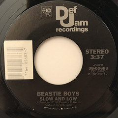 BEASTIE BOYS:SHE'S ON IT(LABEL SIDE-B)