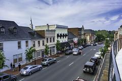 Looking East on William St. in downtown Fredericksburg Virginia