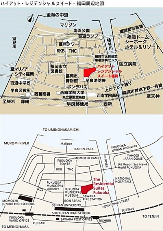 The Residential Suites Fukuoka Map