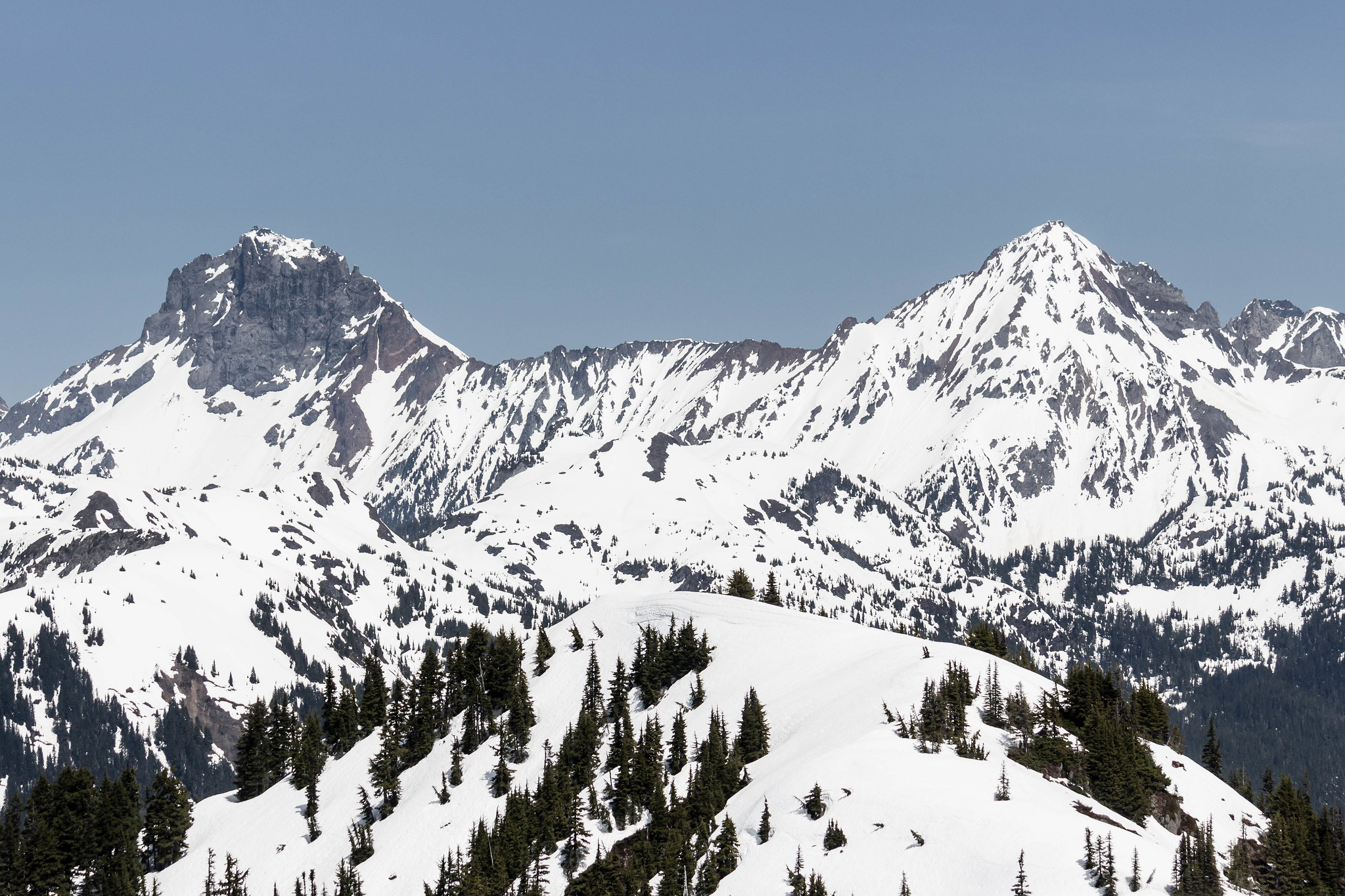 American Border Peak and Mount Larrabee