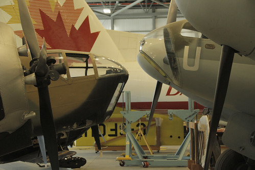 Bristol Bolingbroke and de Havilland Mosquito at the CASM, Ottawa