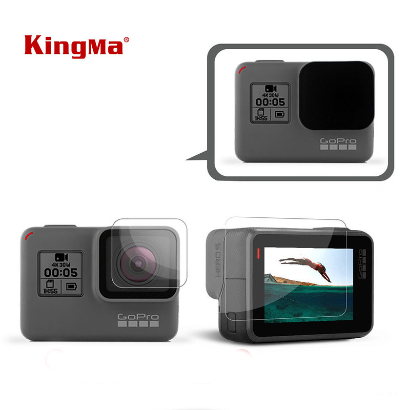 KINGMA - Bộ kính cường lực màn hình sau và camera trước cho GoPro Hero 6 5 black