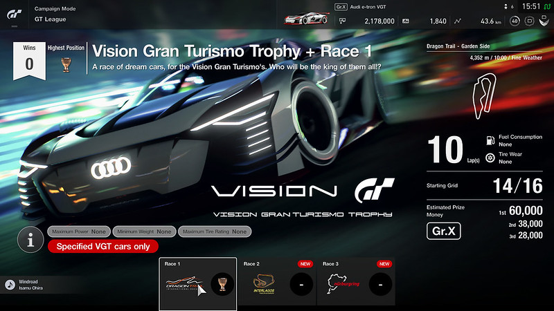 Vision Gran Turismo Trophy + (Professional League)