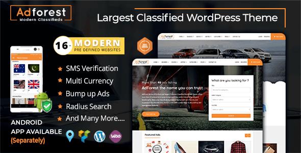 AdForest v3.3.1 – Classified Ads WordPress Theme