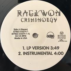 RAEKWON:CRIMINOLOGY(LABEL SIDE-A)