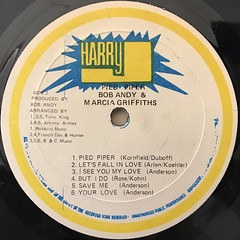 BOB & MARCIA:PIED PIPER(LABEL SIDE-B)
