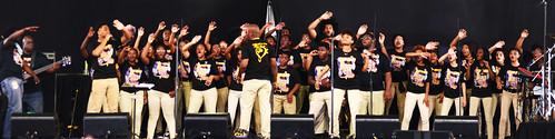 Landry Walker Charter High School Choir on Day 4 of Jazz Fest - May 3, 2018. Photo by Leon Morris.