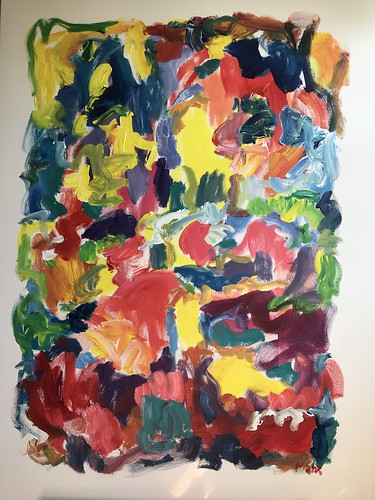 Susan Marx, Dancing Yellows, 2018, 48x36, acrylic on canvas