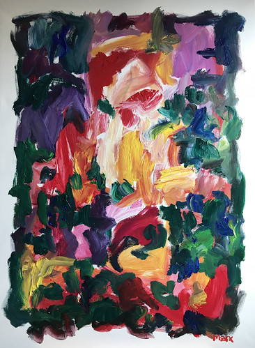 Susan Marx, Ode to Spring 2018, 48x36, acrylic on canvas