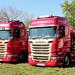 Pair of Mark Smithson Scania Trucks Peterborough Truckfest 2018