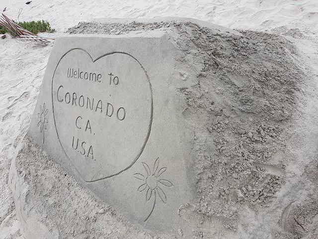The famous Coronado beach