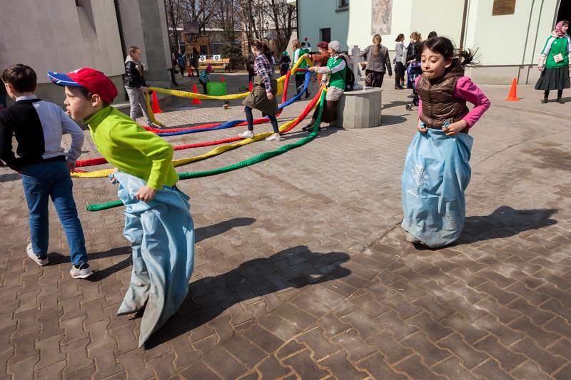 Храмовый комплекс прп. Сергия Радонежского провел семейный спортивный праздник для жителей Рязанского района