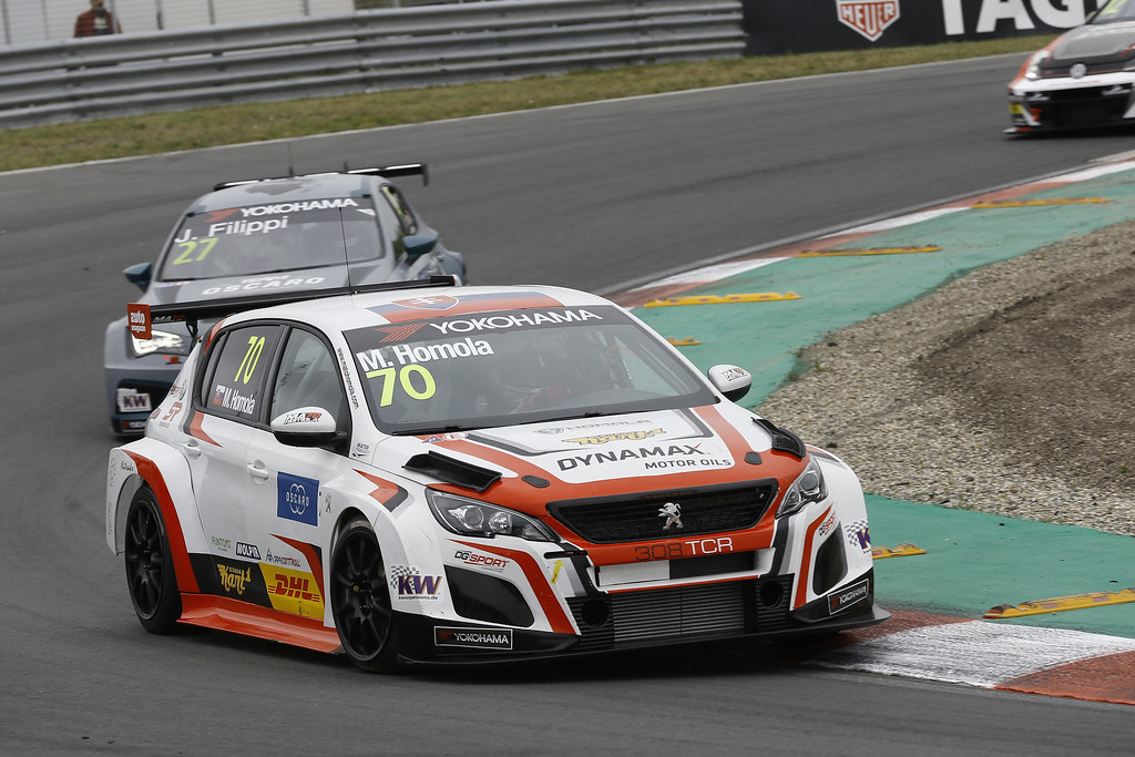 70 HOMOLA Mato, (svk), Peugeot 308 TCR team DG Sport Competition, action during the 2018 FIA WTCR World Touring Car cup of Zandvoort, Netherlands from May 19 to 21 - Photo Jean Michel Le Meur / DPPI