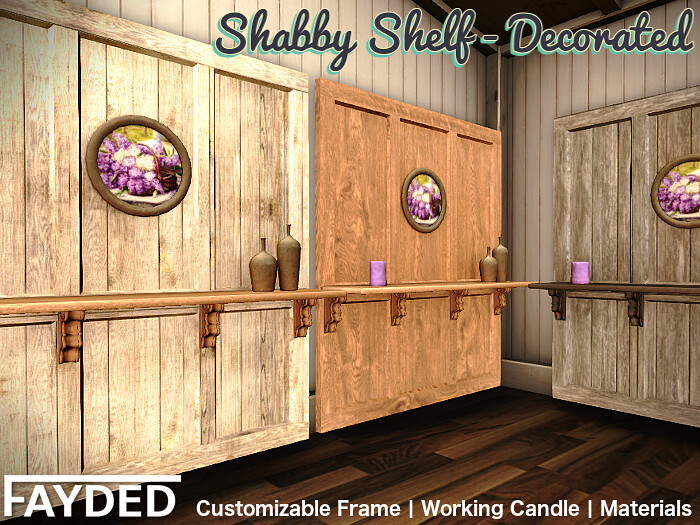 FAYDED - Shabby Shelf Decorated - TeleportHub.com Live!