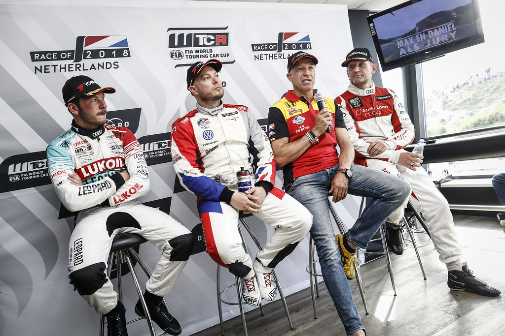 conference de presse press conference during the 2018 FIA WTCR World Touring Car cup of Zandvoort, Netherlands from May 19 to 21 - Photo Francois Flamand / DPPI