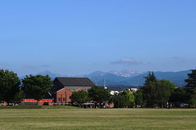 Mt. HAKUSAN from Kanazawa Citizen Art Village