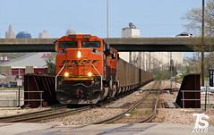 3/9 BNSF 9258 Leads SB Empty Coal Drag Kansas City, KS 4-29-18