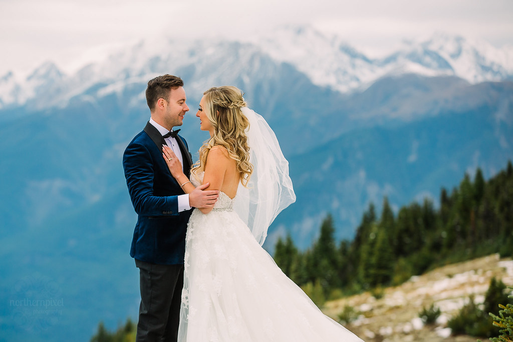 Mountaintop wedding photos - Valemount BC