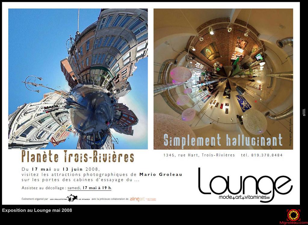 Exposition au Lounge mai 2008