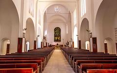 Our Lady Fatima Catholic Cathedral at Nampula, Mozambique #nampula #cathedral #catholic #catholiccathedral #bigchurch #tobphoto #prayer #pews #catedral #catolica #mozambique #moçambique #architecture #architecturephotography #churchinterior #catholicism