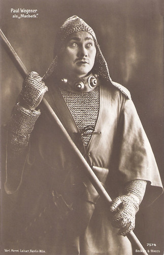Paul Wegener as Macbeth