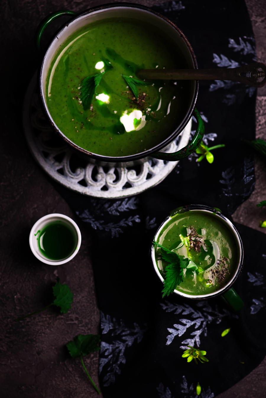 nettle soup  with Wild Garlic Oil.3