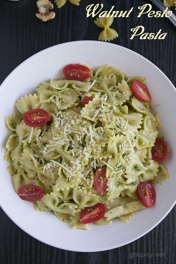 Pesto Pasta Recipe by GoSpicy.net