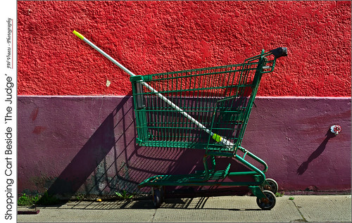 Shopping Cart Beside 'The Judge'