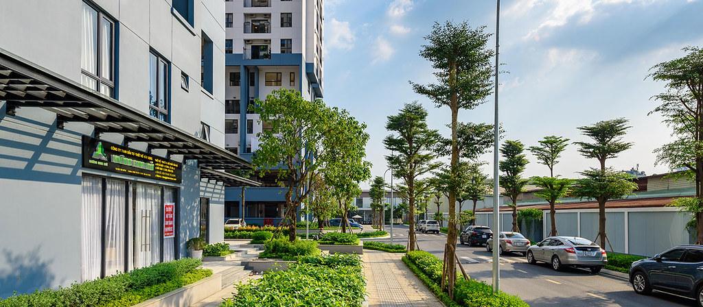 Đường nội khu chung cư căn hộ M-One quận 7.