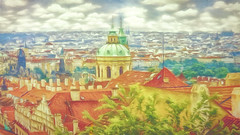 """View from the high ground"" - Prague city landscape"
