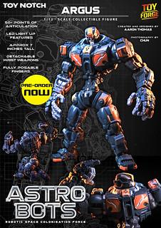 【挑戰最強可動】  Toy Notch 《鋼鐵雄兵(Astrobots)》 阿波羅(Apollo)  全身69個關節的可動人偶
