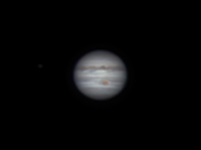 木星 (LRGB合成画像) (2018/5/4 21:33, 21:35)
