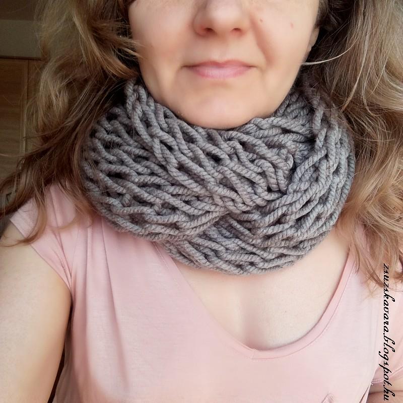 knitting, cowl, redheart, lisabig