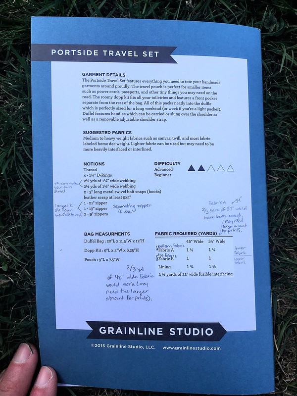 Grainline Studio Portside Duffle