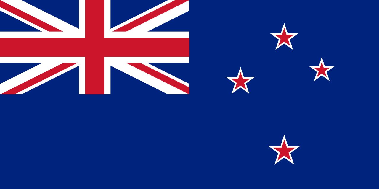 Blue Ensign (National Flag) of New Zealand