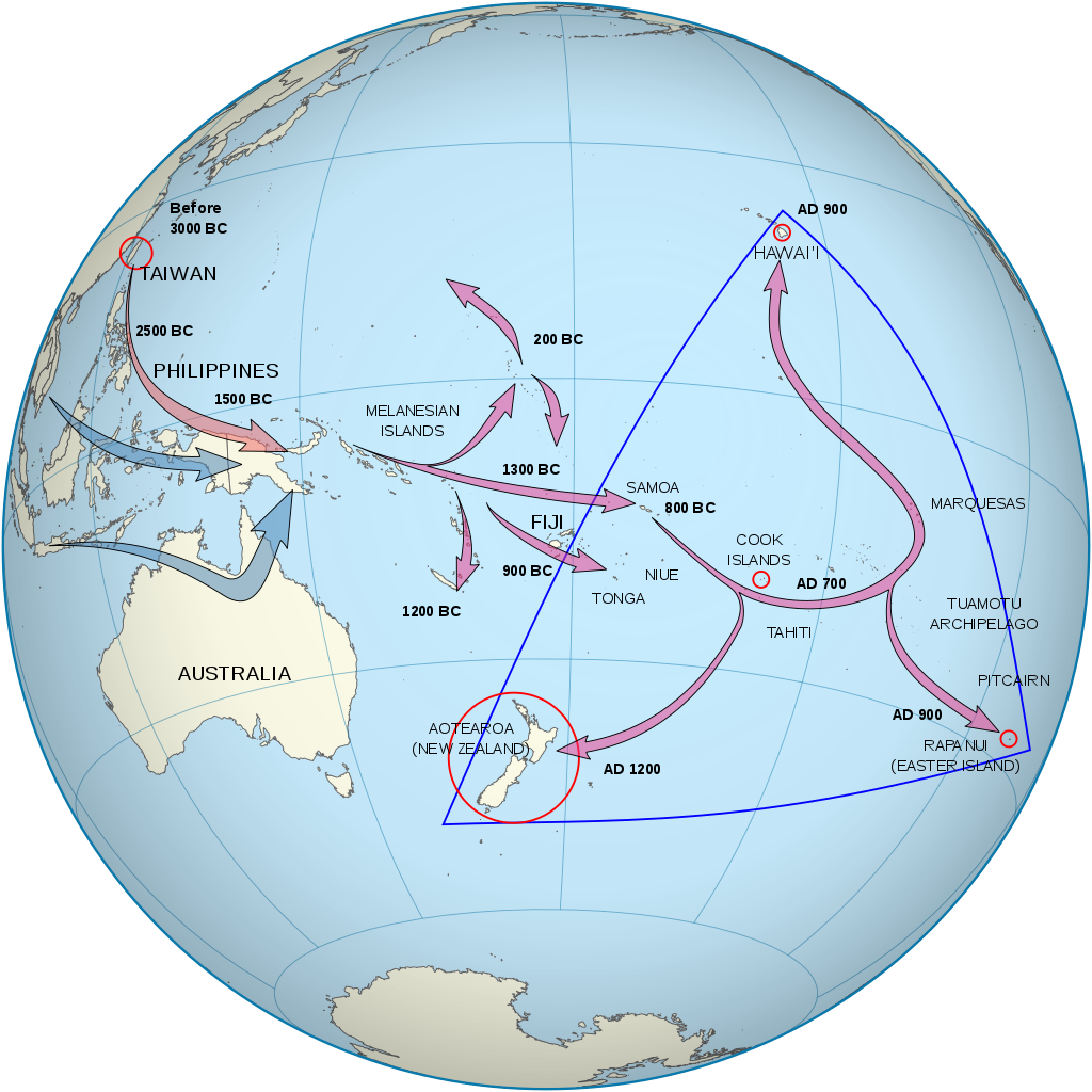 The Māori settlement of New Zealand represents an end-point of a long chain of island hopping voyages in the South Pacific.