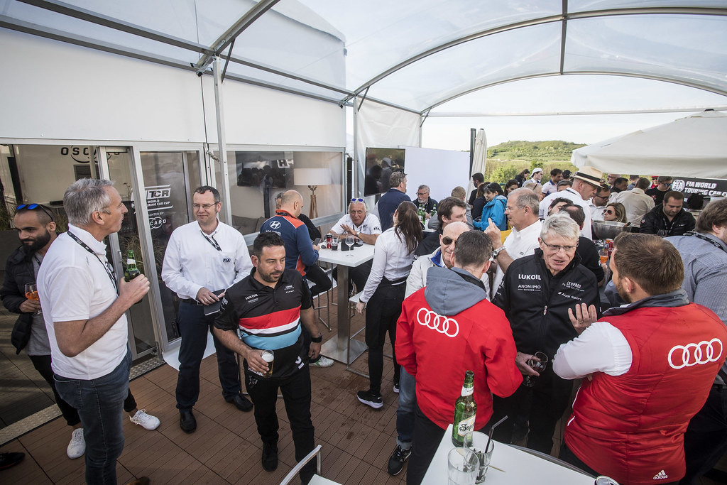 Happy hour, ambiance during the 2018 FIA WTCR World Touring Car cup, Race of Hungary at hungaroring, Budapest from april 27 to 29 - Photo Gregory Lenormand / DPPI