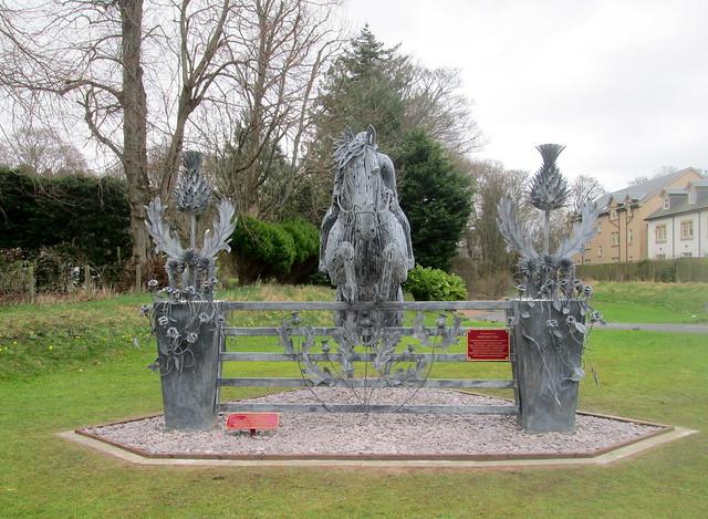 Horse Sculpture Peebles Front View