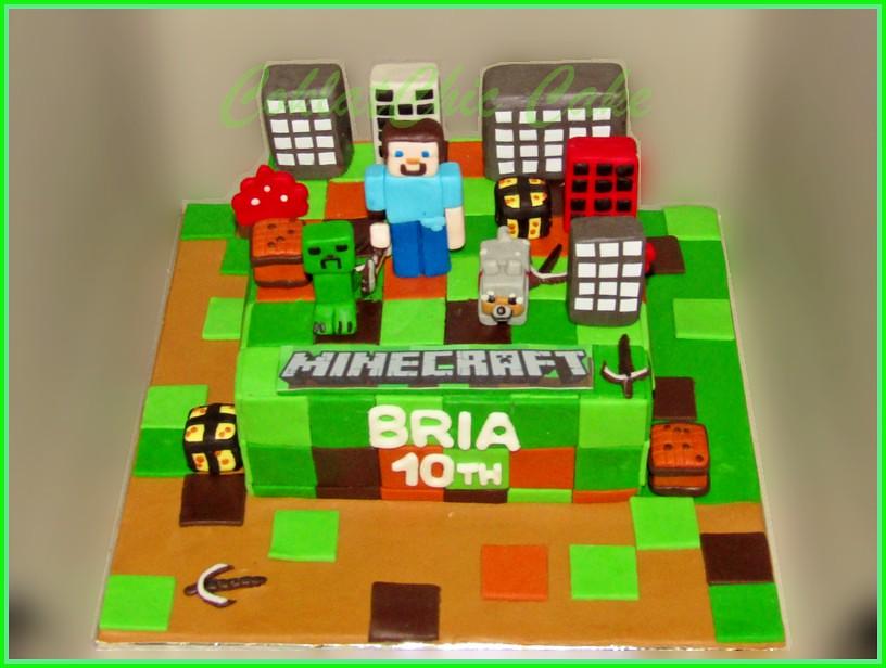 Cake Minecraft BRIA 15 cm