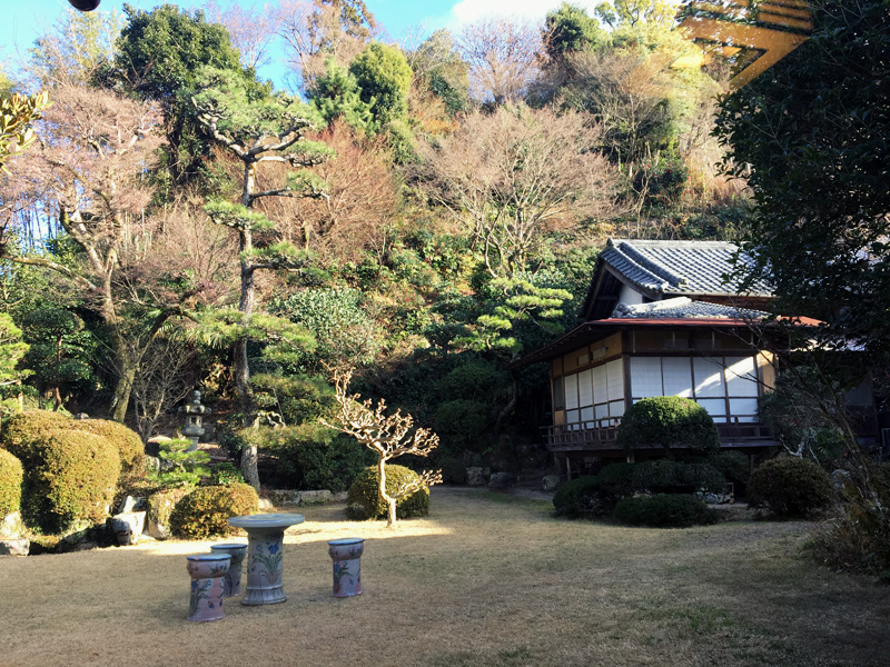 Hiroshima Tea House Garden View