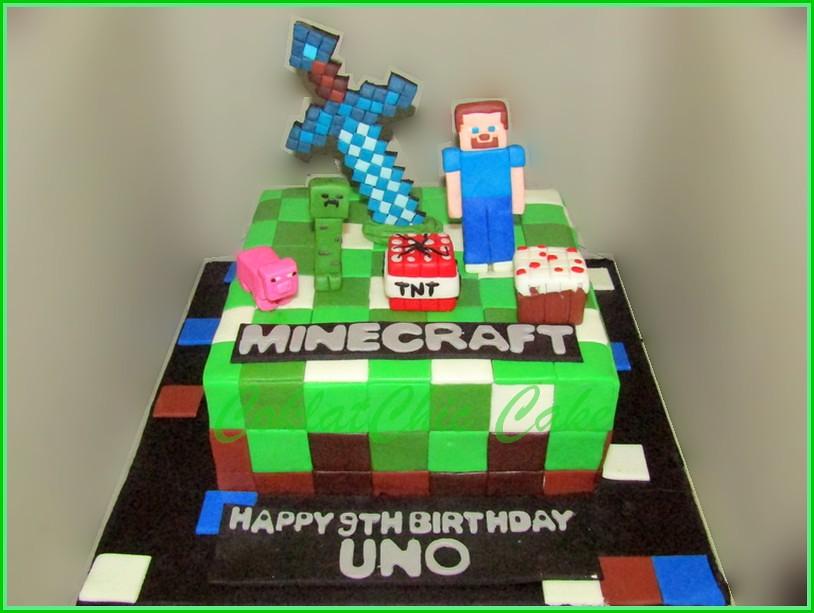 Cake Minecraft UNO 15 cm